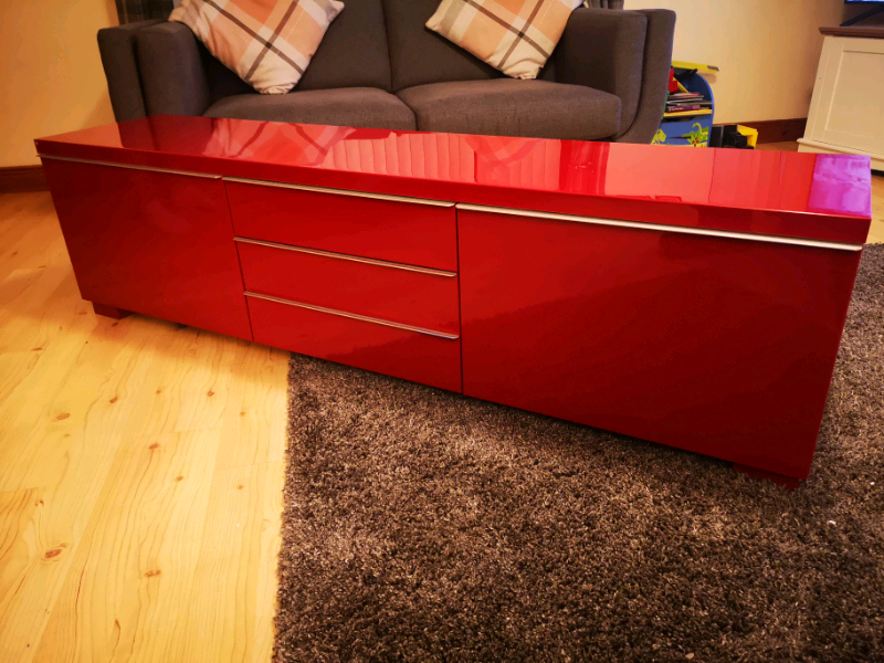 Ikea Red High Gloss Tv Cabinet Stand   In Newtownabbey With Red Tv Units (View 3 of 15)
