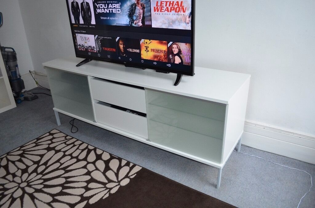 Ikea Tv Stand Cabinet With Two Sliding Doors And Drawers With Tv Stands At Ikea (View 8 of 15)