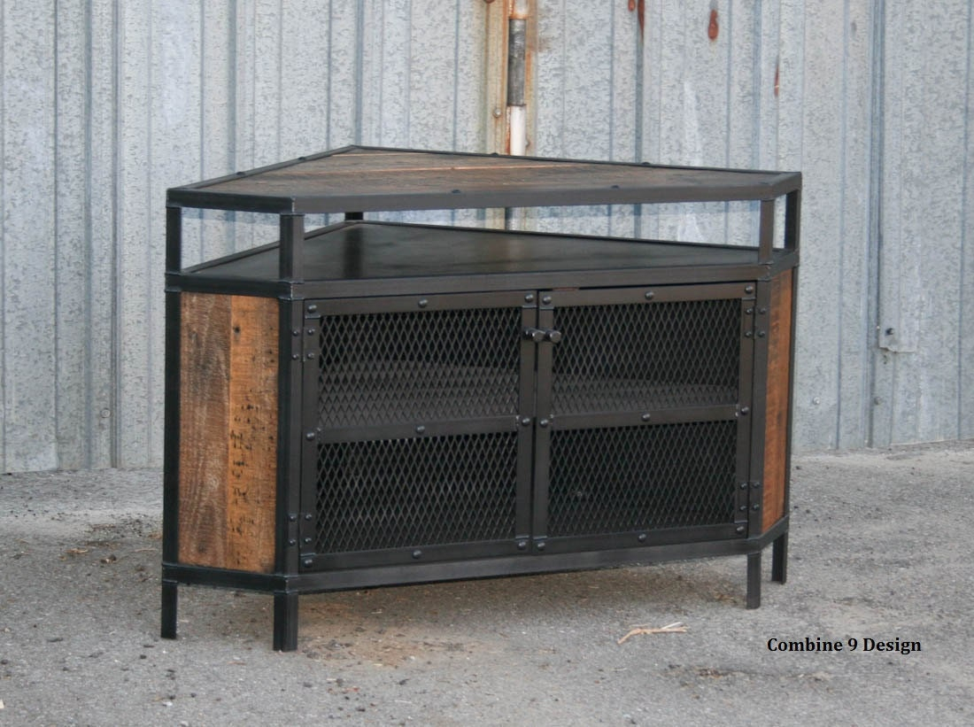 Industrial Corner Unit Reclaimed Wood Tv Stand (View 15 of 15)