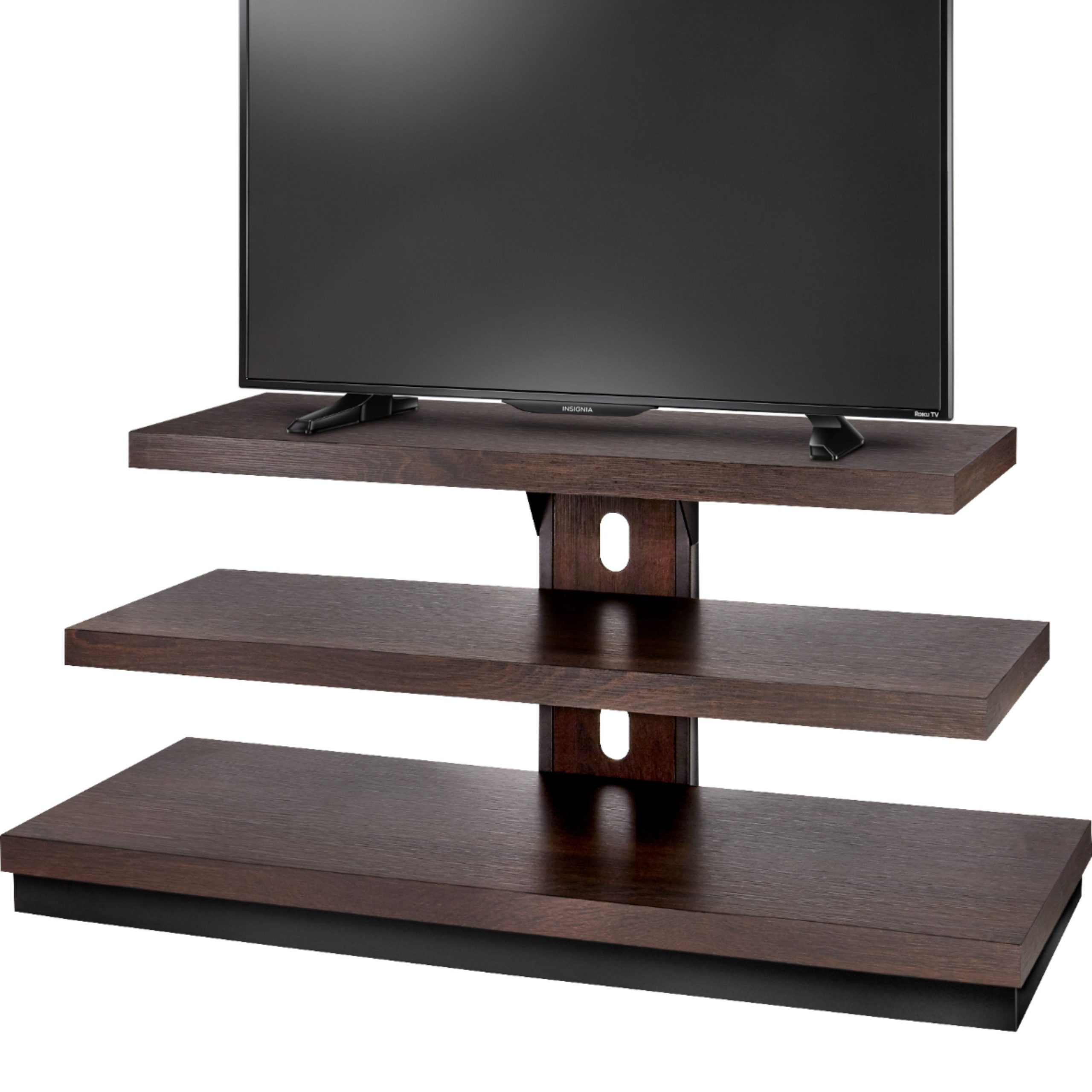 """Insignia™ Tv Stand For Most Flat Panel Tvs Up To 55"""" Dark With Easel Tv Stands For Flat Screens (View 7 of 15)"""