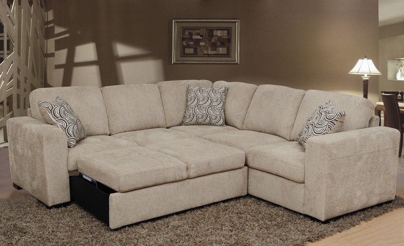 Izzy 2 Piece Chenille Sectional With Left Facing Sleeper Pertaining To Hugo Chenille Upholstered Storage Sectional Futon Sofas (View 6 of 15)