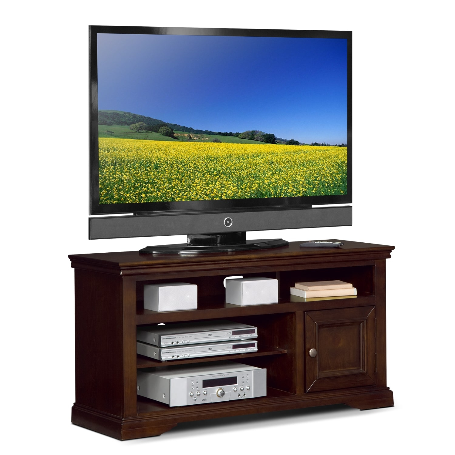 """Jenson 50"""" Tv Stand – Cherry 