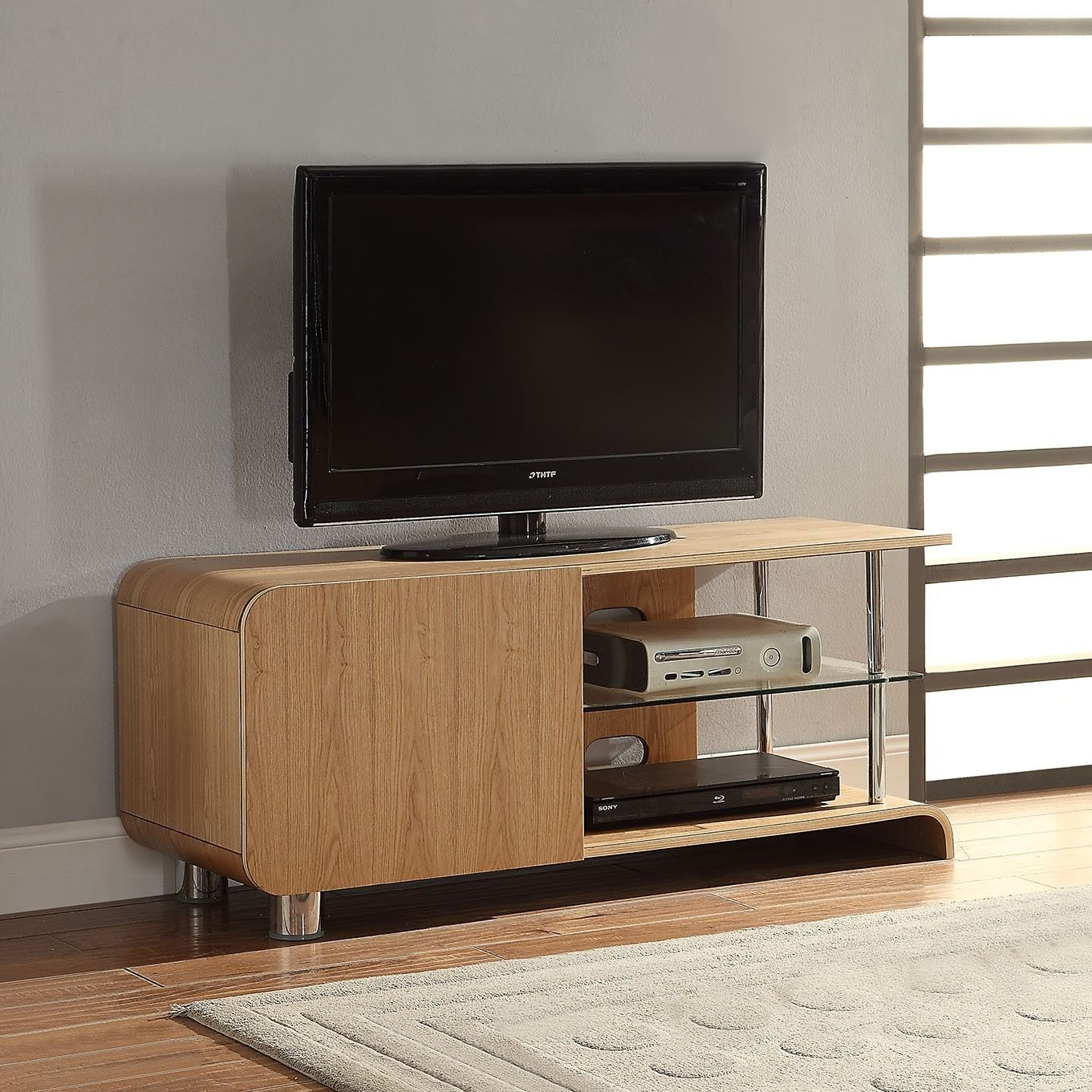 """Jual Furnishings Bs202 Ash Tv Stand For Up To 55"""" Tvs With Regard To Baba Tv Stands For Tvs Up To 55"""" (View 2 of 15)"""