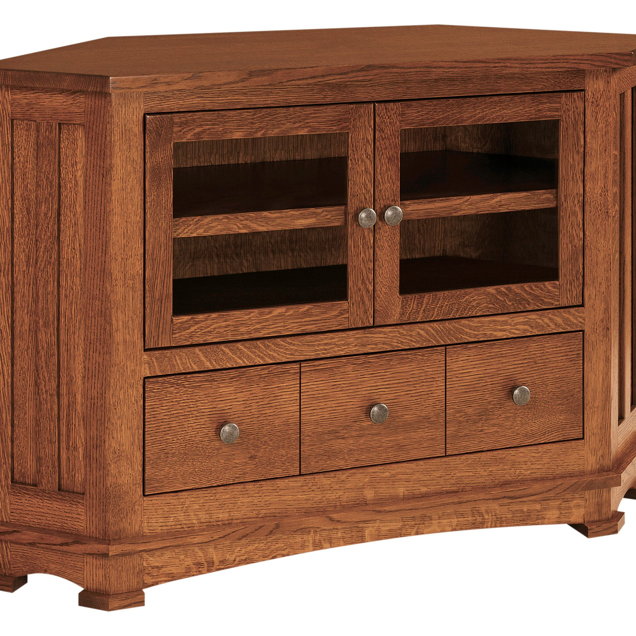 Kenwood Small Corner Tv Stand | Amish Kenwood Small Corner With Regard To Wooden Tv Stand Corner Units (View 2 of 15)