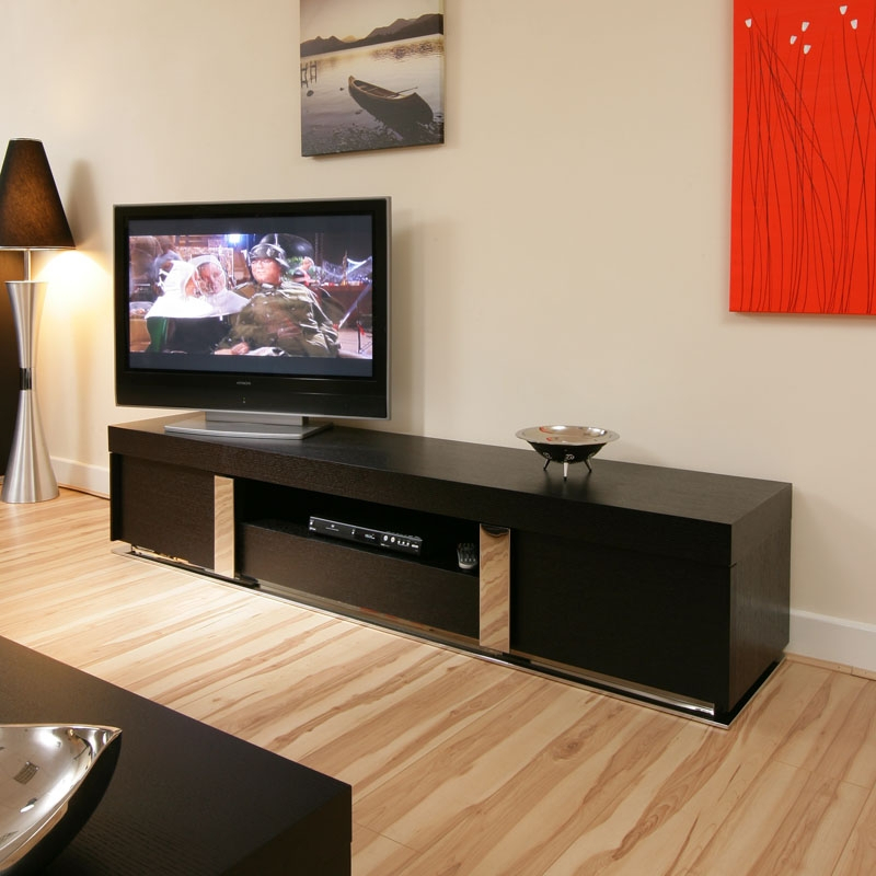 Large Tv / Television Cabinet/entertainment Unit/center With Regard To Long Black Gloss Tv Unit (View 3 of 15)