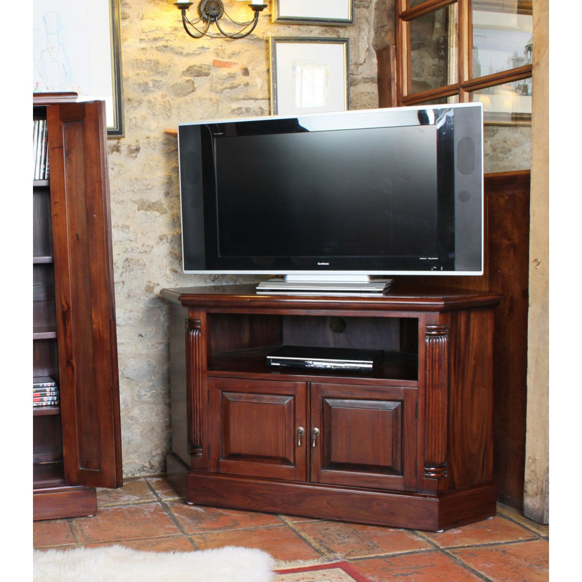 Mahogany Corner Television Cabinet – Wooden Furniture Store For Tv Stands Cabinets (View 8 of 15)