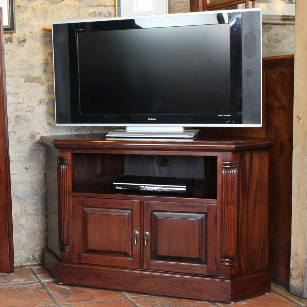 Mahogany Georgian Corner Tv Cabinet (View 9 of 15)