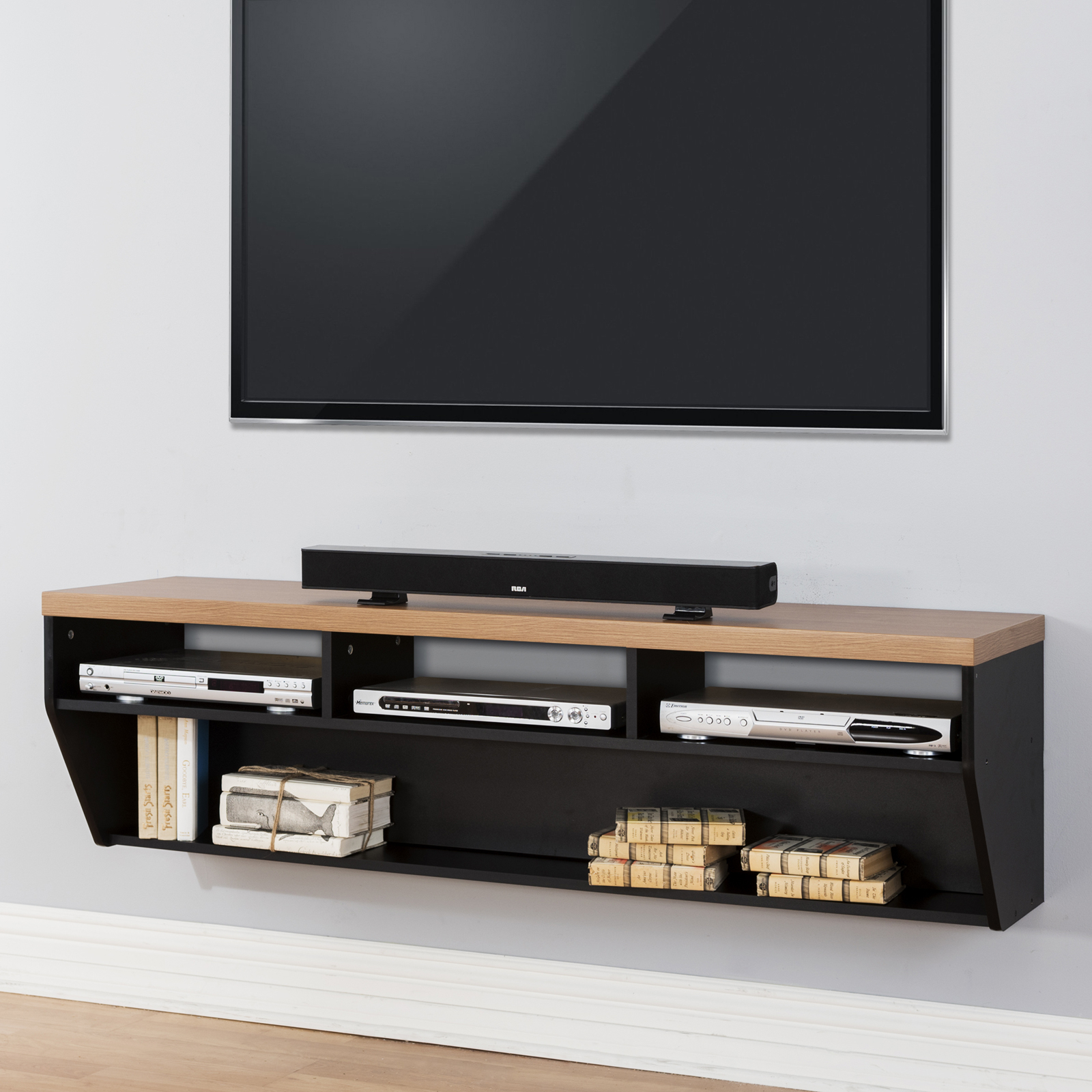 Martin Furniture Angled Sides Wall Mounted Tv Shelf – Tv Within Baby Proof Contemporary Tv Cabinets (View 14 of 15)