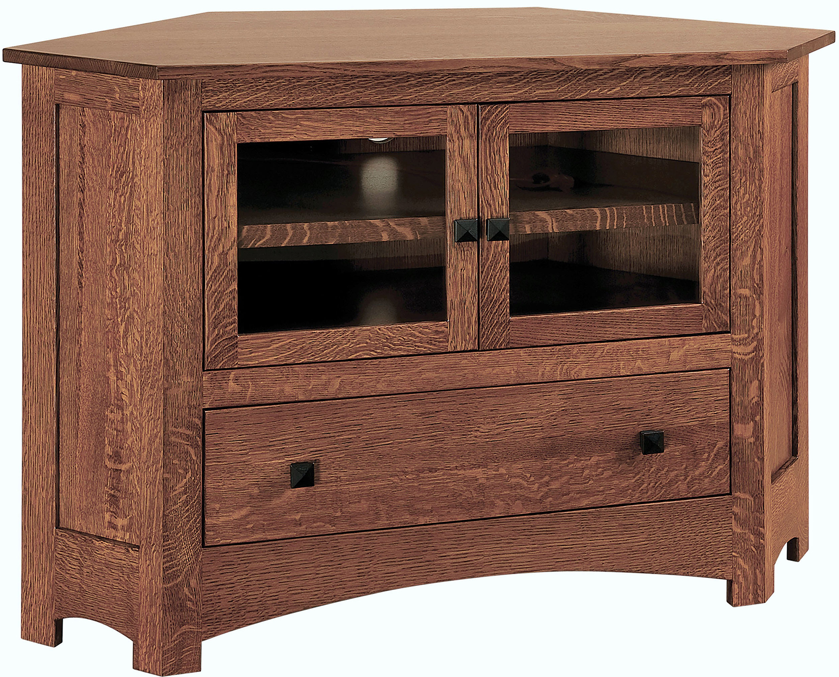 Mission Small Corner Tv Cabinet   Amish Small Mission Intended For Low Corner Tv Stands (View 7 of 15)