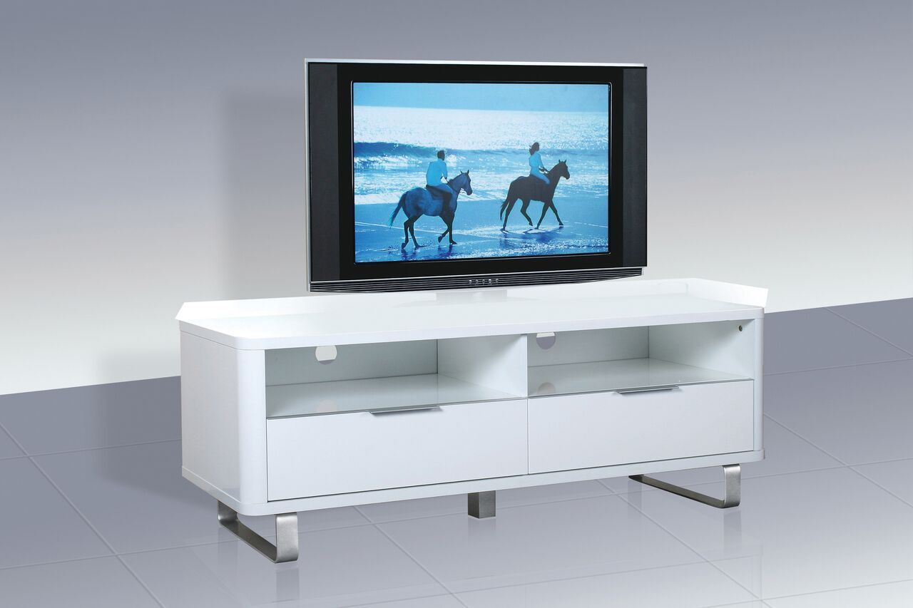 Modern High Gloss White Tv Television Cabinet Unit Stand For High Gloss Tv Cabinet (View 4 of 15)