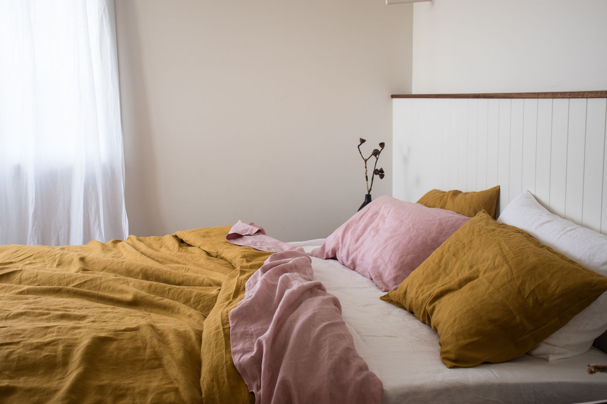Mustard French Linen In 2020 | Bed Linen Sets, Diy Sofa With Regard To French Seamed Sectional Sofas Oblong Mustard (View 13 of 15)