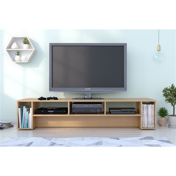 Nexera Rustik 72 In Natural Maple Tv Stand 110005 | Réno Dépôt With Maple Tv Cabinets (View 14 of 15)