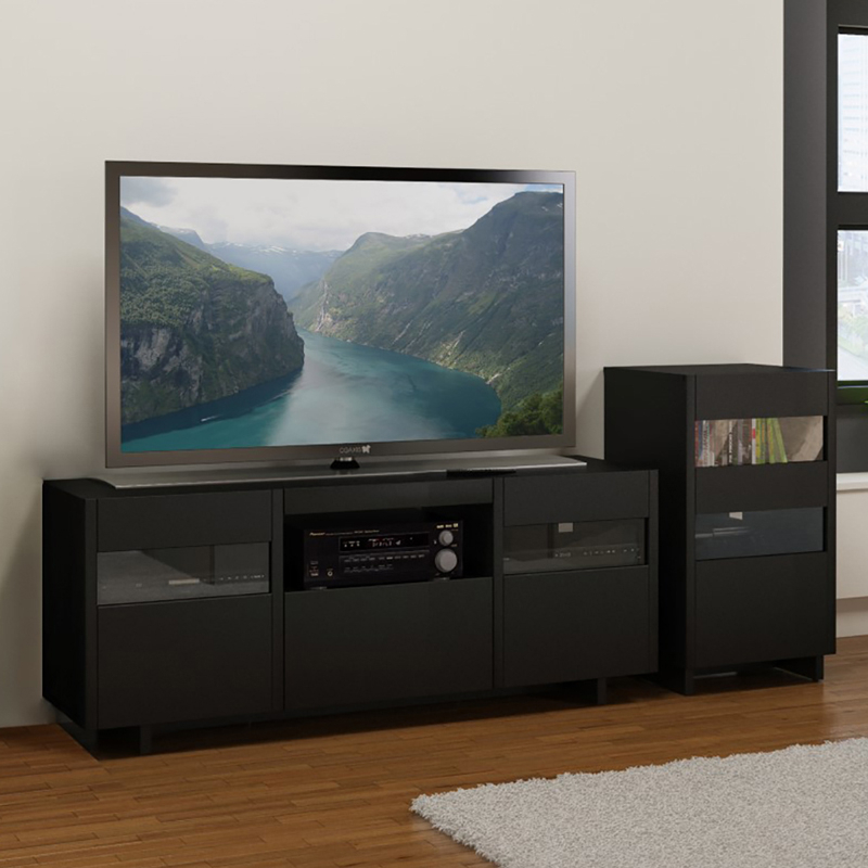 Nexera Vision Entertainment Center With Single Audio Tower With Single Tv Stands (View 12 of 15)