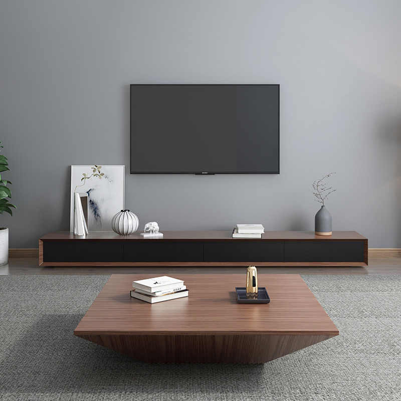 Nordic Coffee Table Tv Cabinet Combination Simple Small In Small Tv Tables (View 5 of 15)