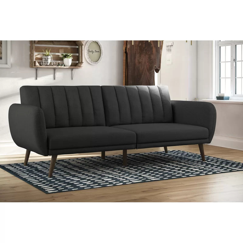 Novogratz Brittany Convertible Sofa & Reviews | Allmodern With Brittany Sectional Futon Sofas (View 10 of 15)