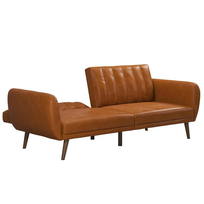 Novogratz Brittany Futon In Convertible Sofa & Couch In For Brittany Sectional Futon Sofas (View 11 of 15)