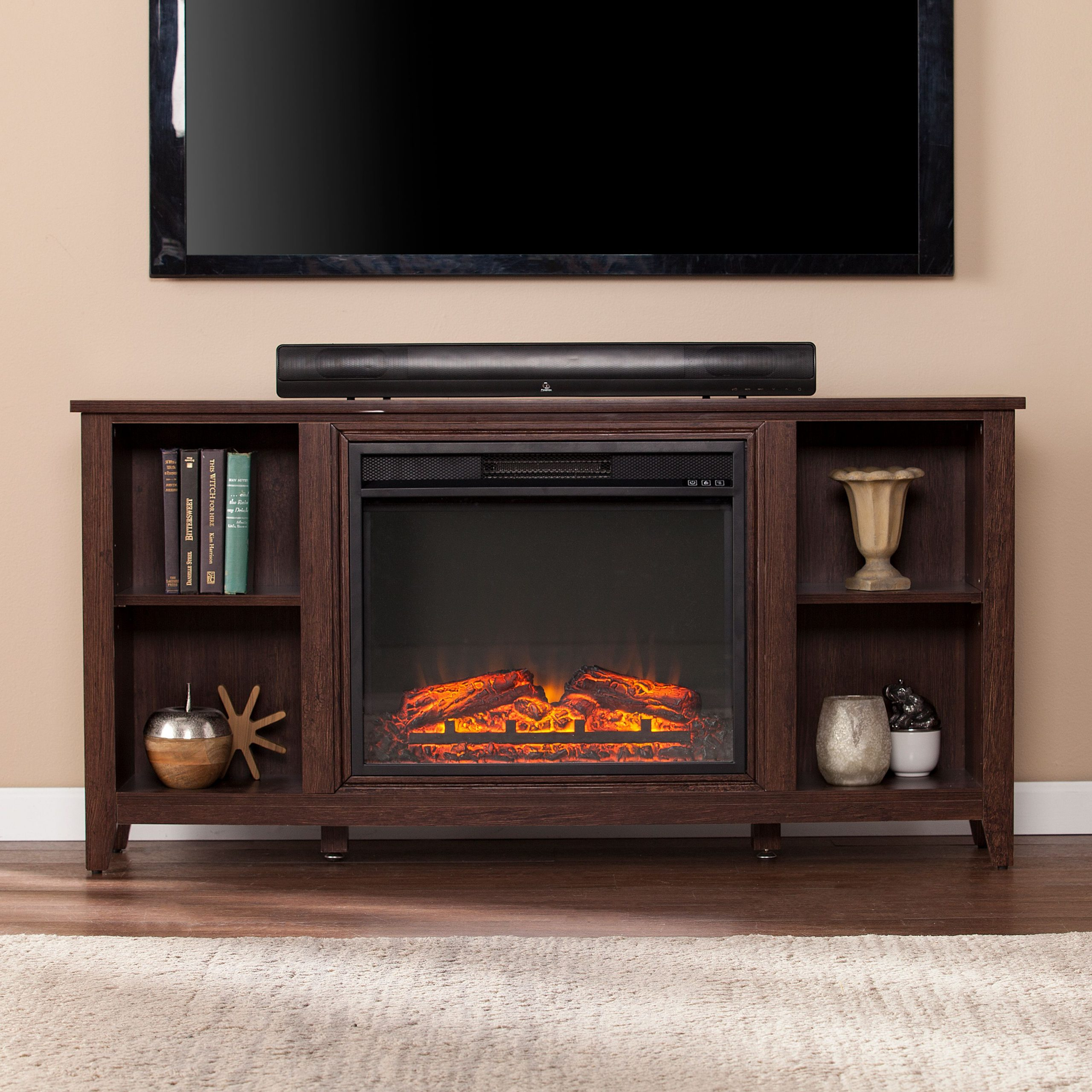 """Paxifyre Electric Fireplace Tv Stand, For Tv's Up To 50 Within Colleen Tv Stands For Tvs Up To 50"""" (View 2 of 15)"""