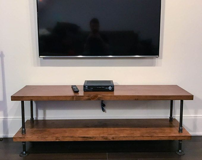 Pin On Basement With Industrial Tv Stands With Metal Legs Rustic Brown (View 10 of 15)