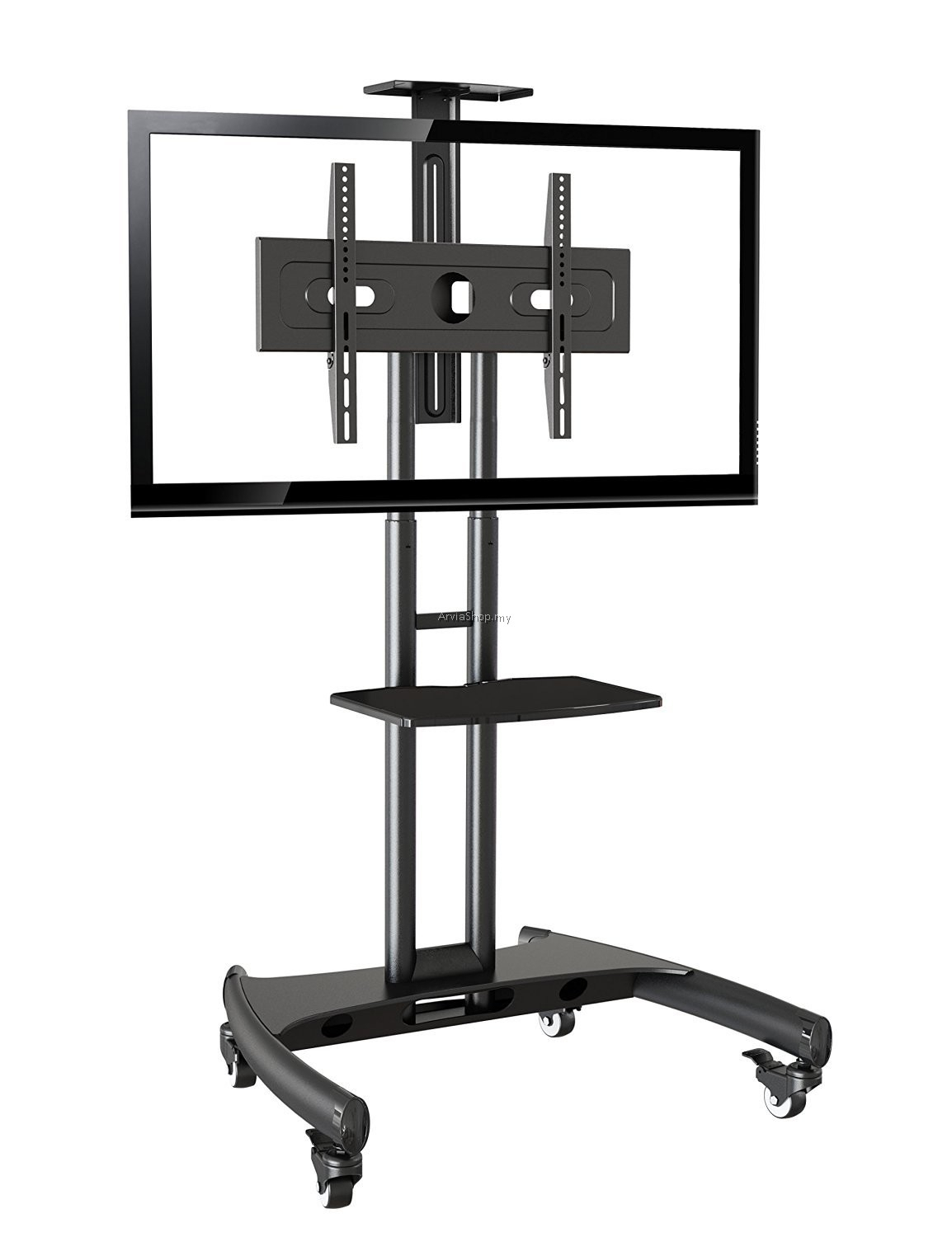 Portable Led/lcd Tv Stand Single Black Upto 32 Inches – 65 Regarding Single Tv Stands (View 1 of 15)