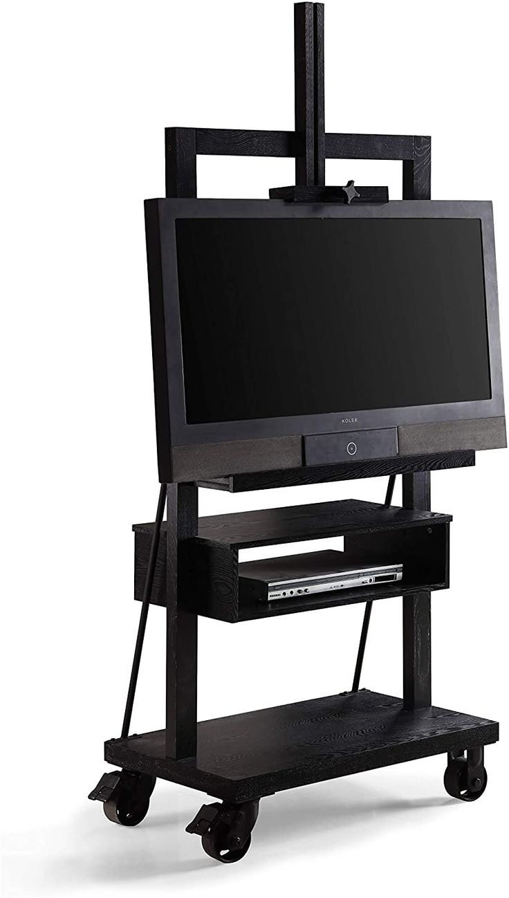 Posh Black 3 Tier Tv Stand For Flat Panel Television Wood For Tier Entertainment Tv Stands In Black (View 4 of 15)