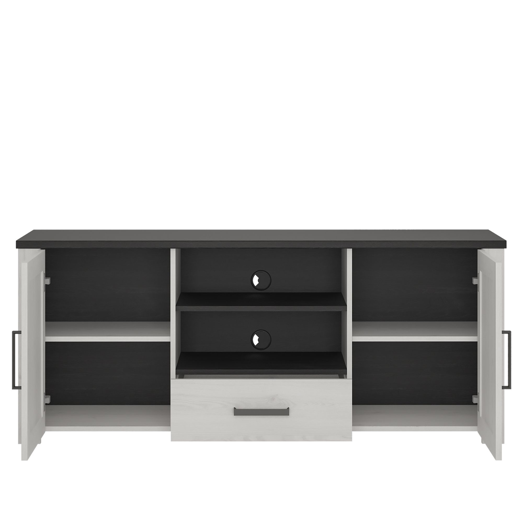Provence High Tv Cabinet 2 Door 1 Drawer Pertaining To Tiva Ladder Tv Stands (View 4 of 11)
