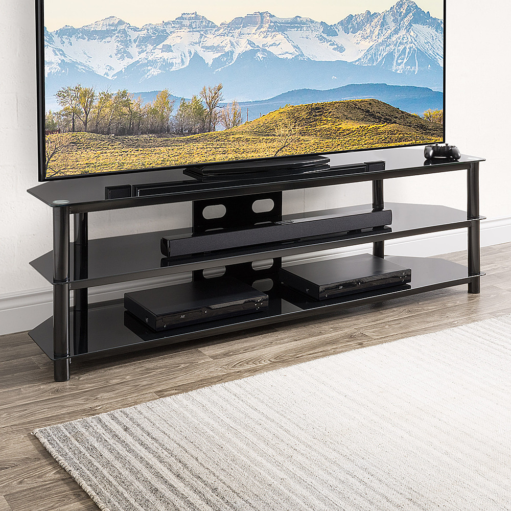 Questions And Answers: Corliving Black Gloss Tv Bench With With Black Gloss Tv Bench (View 14 of 15)