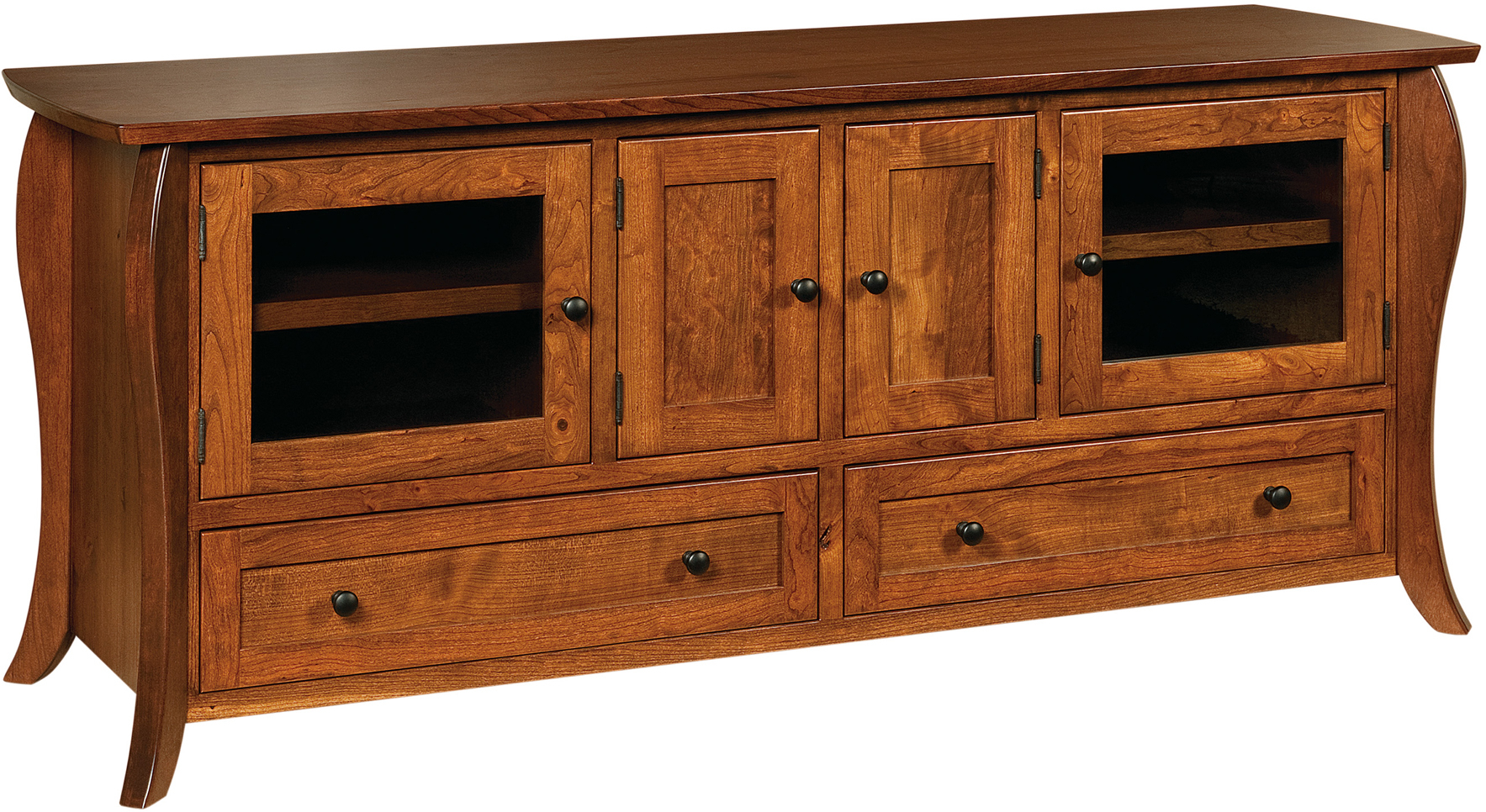 Quincy Tv Cabinets | Custom Amish Quincy Tv Stands Inside Maple Tv Cabinets (View 5 of 15)