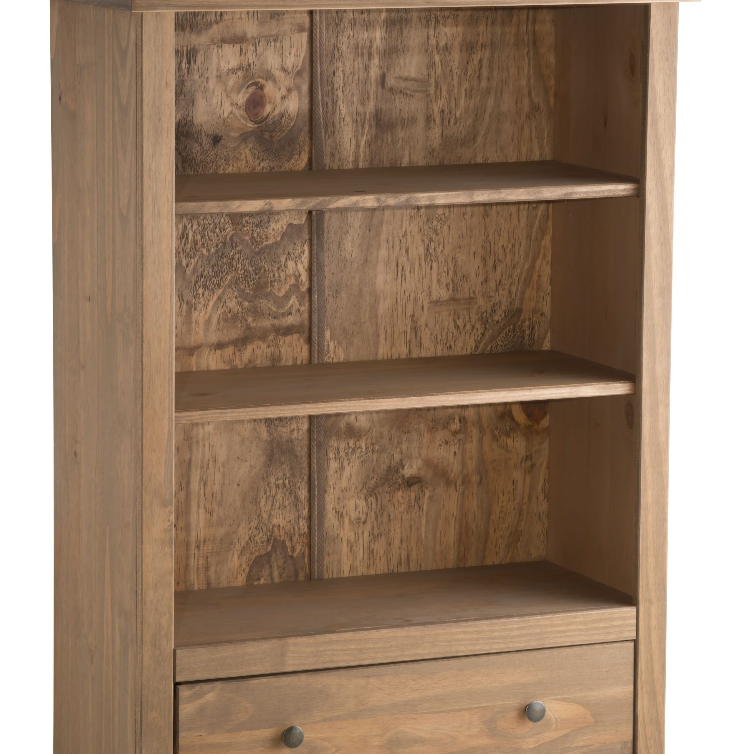 Rustic Wood Santiago 1 Drawer Bookcase – Birlea Furniture Within Santiago Tv Stands (View 10 of 15)