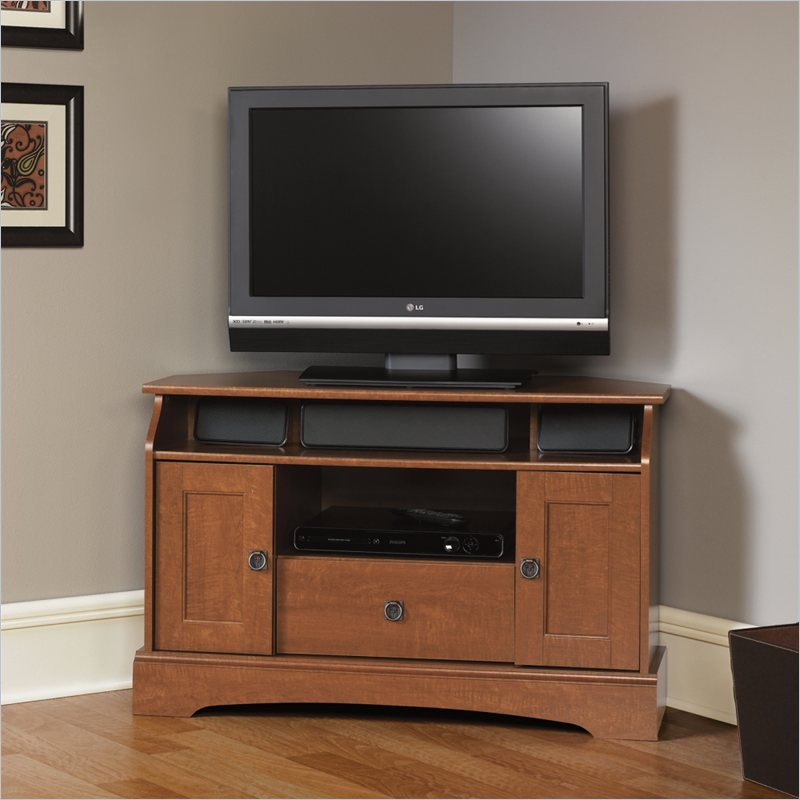 Sauder Graham Hill Corner Autumn Maple Tv Stand | Ebay Intended For Maple Tv Cabinets (View 3 of 15)
