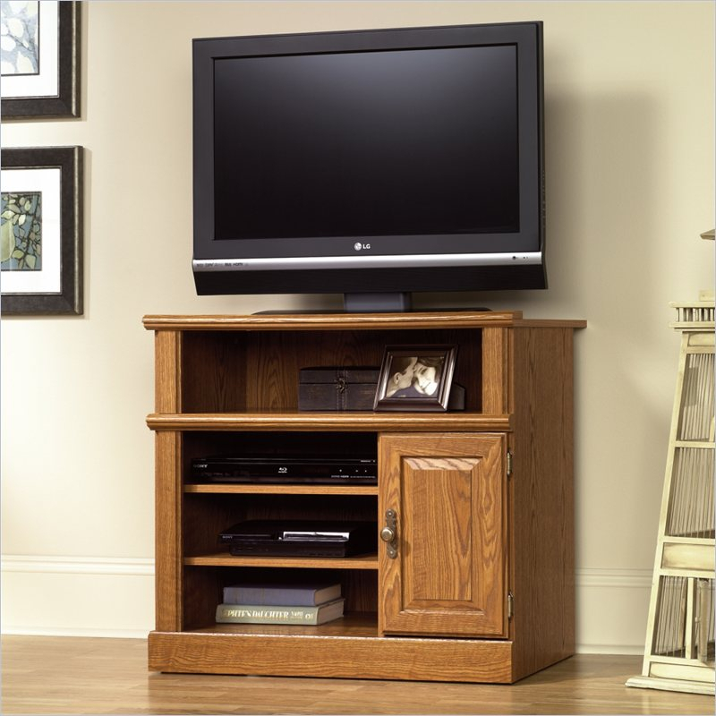 Sauder Orchard Hills Small Highboy Tv Stand Intended For Small Tv Tables (View 1 of 15)