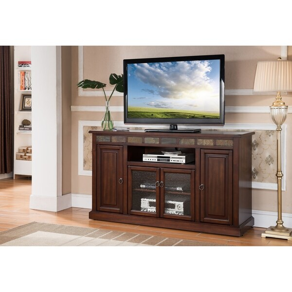 Shop Newman Mocha 48 Inch Rta Entertainment Tv Stand Throughout Freya Wide Tv Stands (View 10 of 15)