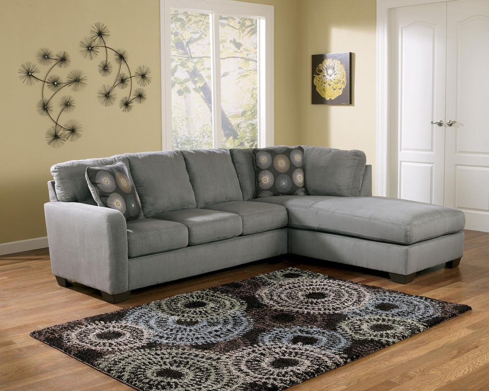 Signature Designashley Zella – Charcoal Contemporary Inside Hannah Right Sectional Sofas (View 10 of 15)