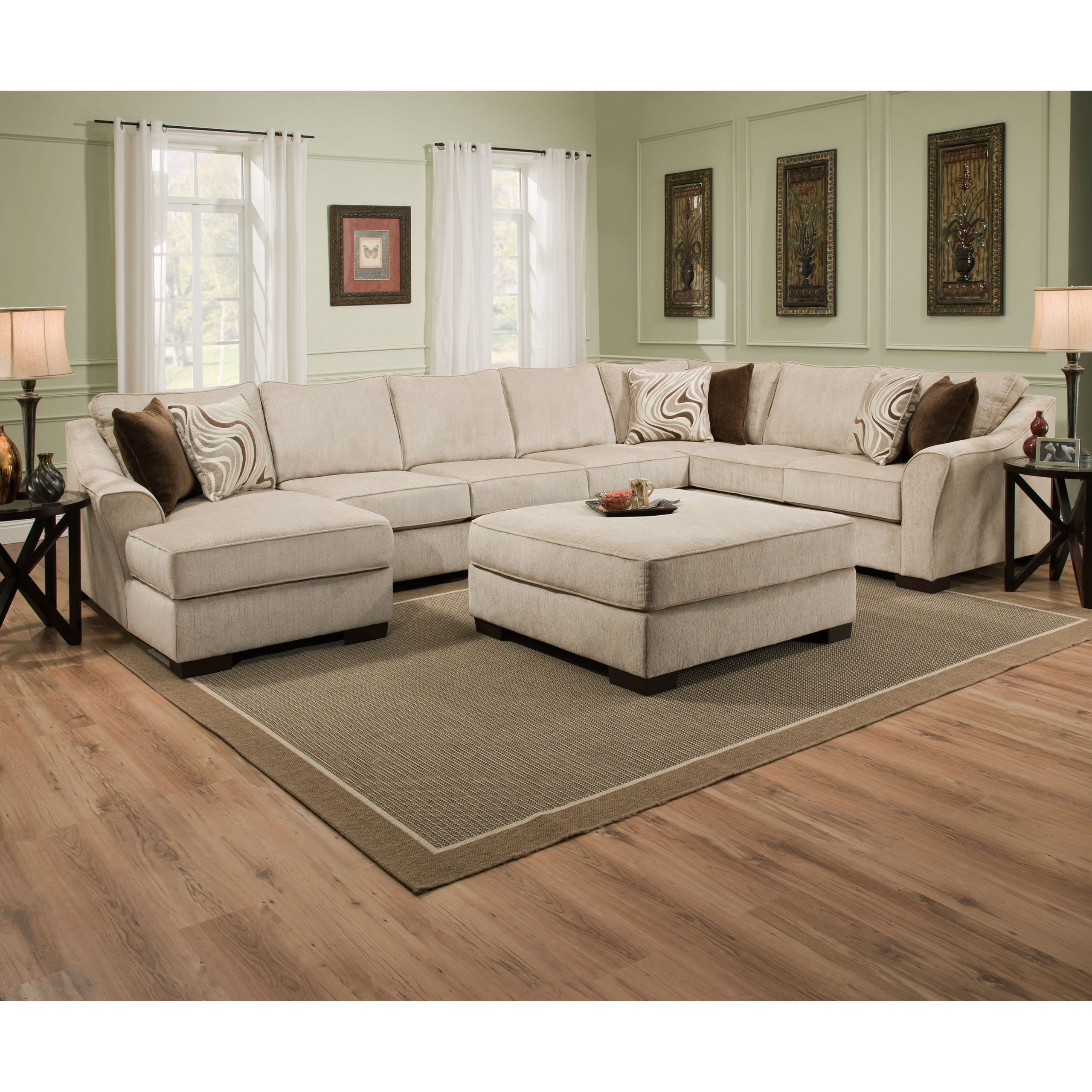 Simmons Kingley Right Facing Sofa Sectional With Chaise For Hannah Right Sectional Sofas (View 7 of 15)
