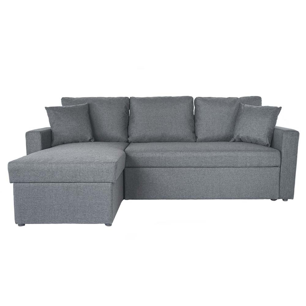 Small Sectional Sleeper Sofa With Pull Out Ottoman Throughout Hartford Storage Sectional Futon Sofas (View 14 of 15)