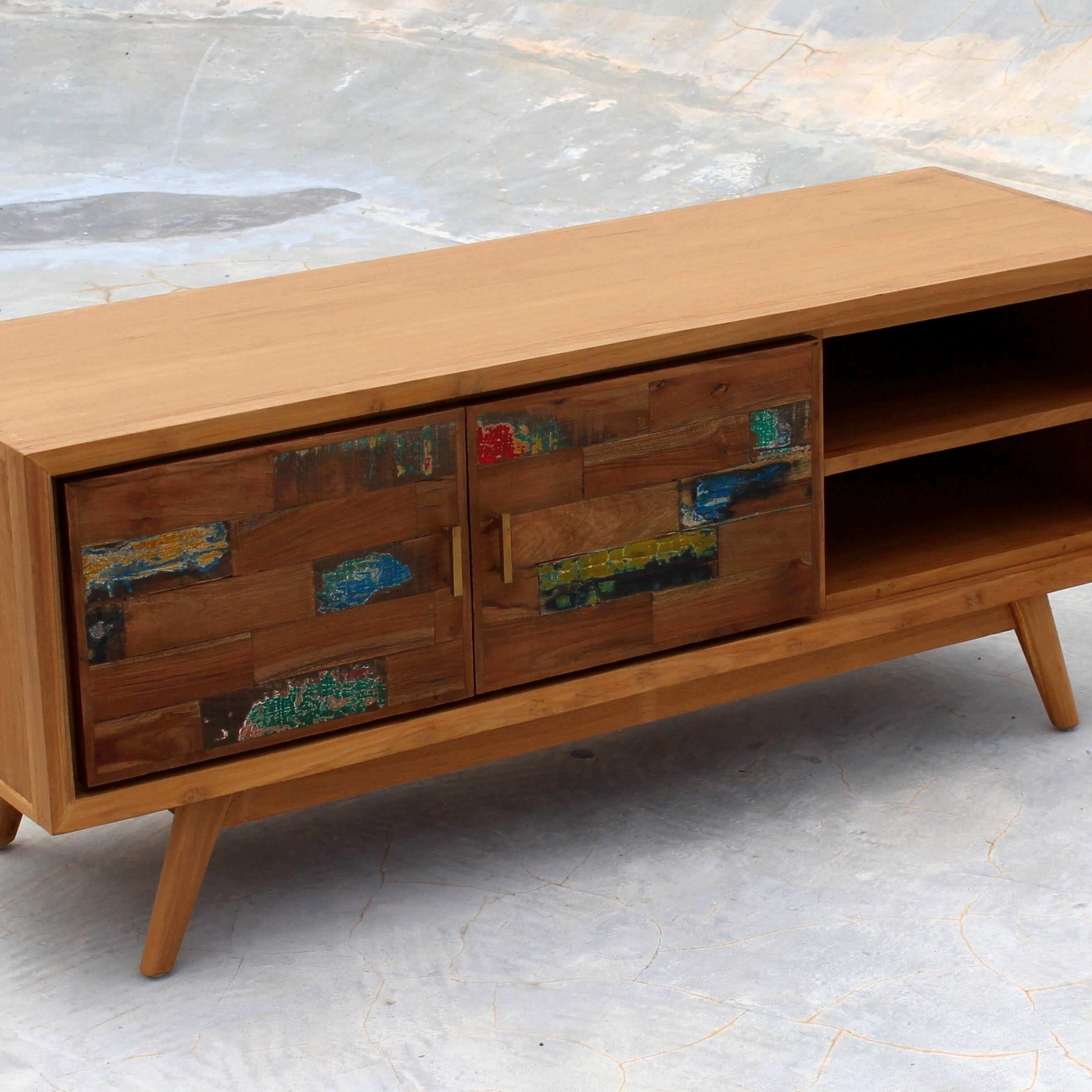 Solid Wood Tv Cabinet With Tv Stands Cabinets (View 11 of 15)