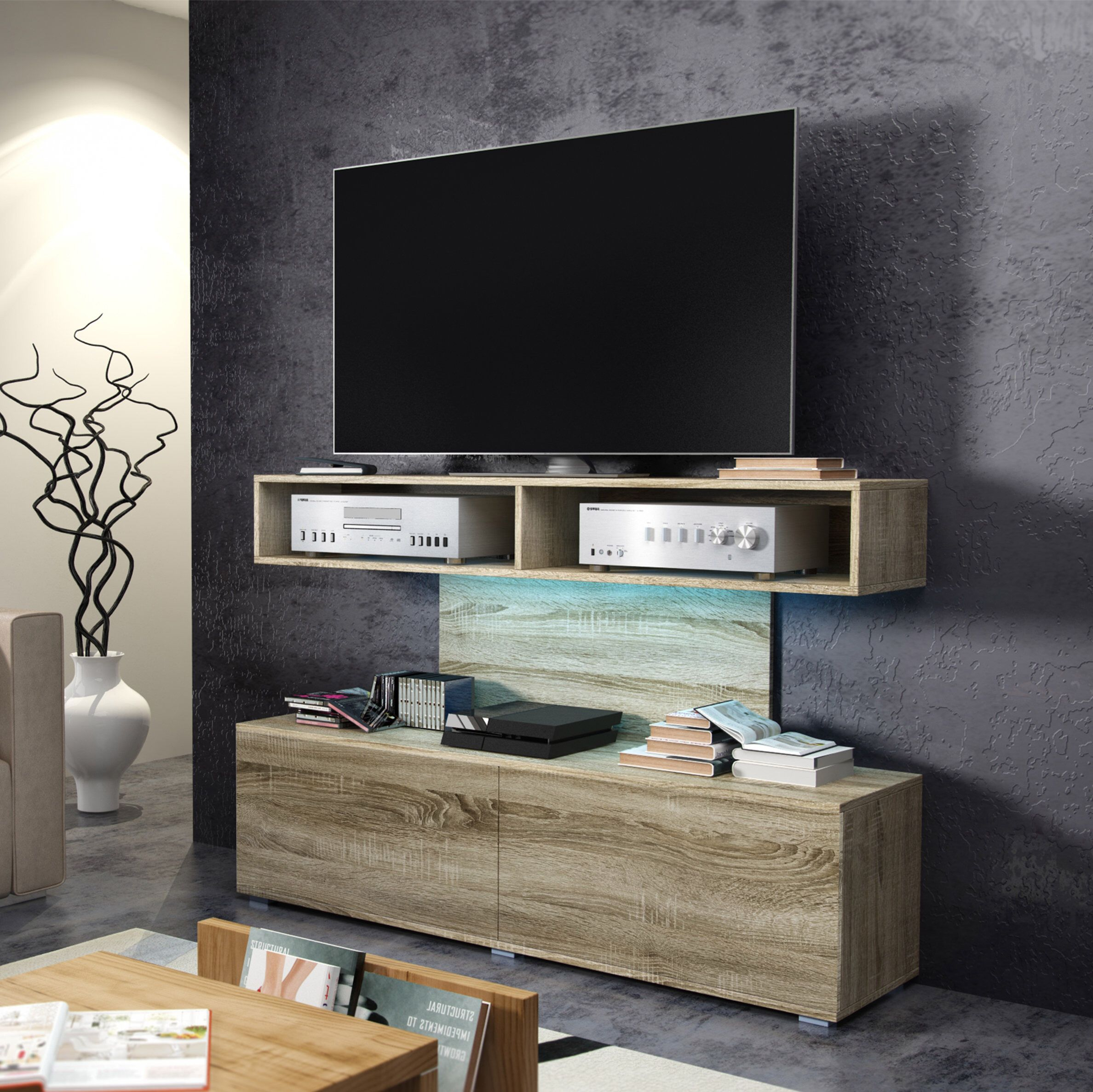 """Space Tv Stand For Tvs Up To 50''   Tv Stand, Floating For Aaliyah Floating Tv Stands For Tvs Up To 50"""" (View 13 of 15)"""