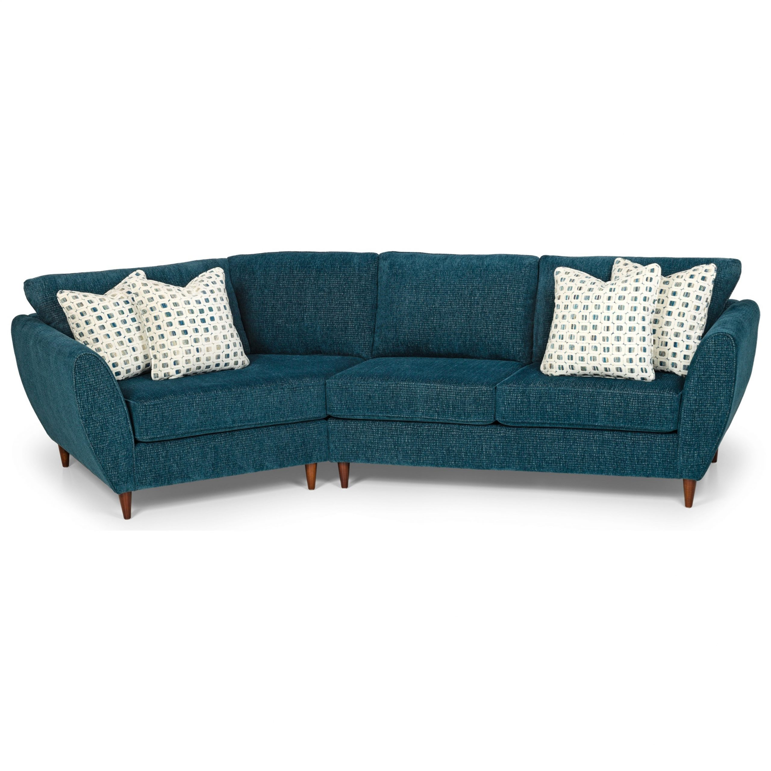 Stanton 473 Mid Century Modern 2 Piece Sectional Sofa With Regarding Florence Mid Century Modern Left Sectional Sofas (View 2 of 15)