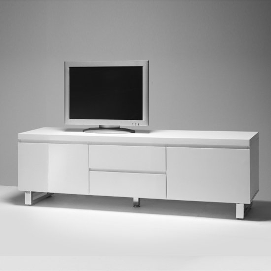 Sydney Lowboard Lcd Tv Stand In High Gloss White 19653 Inside High Gloss Tv Cabinet (View 11 of 15)