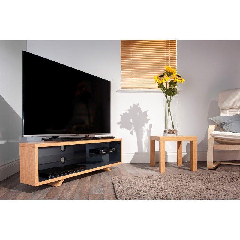 Techlink Dual Corner Light Oak & Satin Grey Tv Stand Regarding Techlink Air Tv Stands (View 14 of 15)