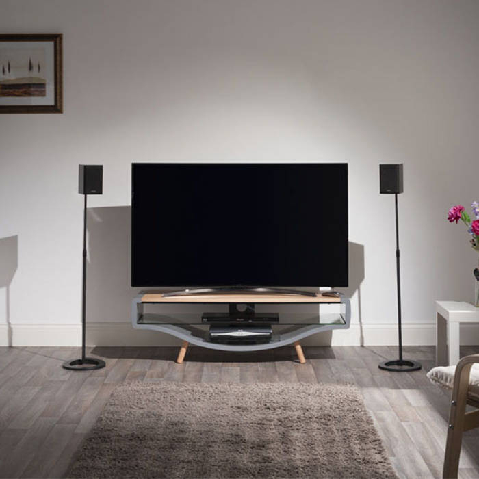 Techlink Kv120glo Kurve Contemporary Gloss Grey And Oak Tv In Techlink Air Tv Stands (View 13 of 15)