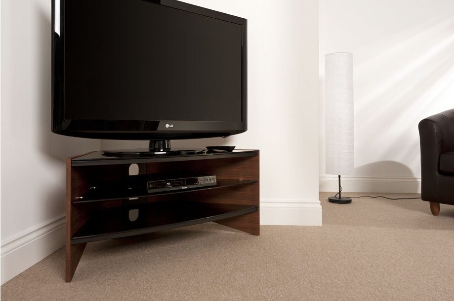 Techlink Rv100w Riva Walnut/black Tv Stand For Up To 50 Inch With Techlink Air Tv Stands (View 6 of 15)