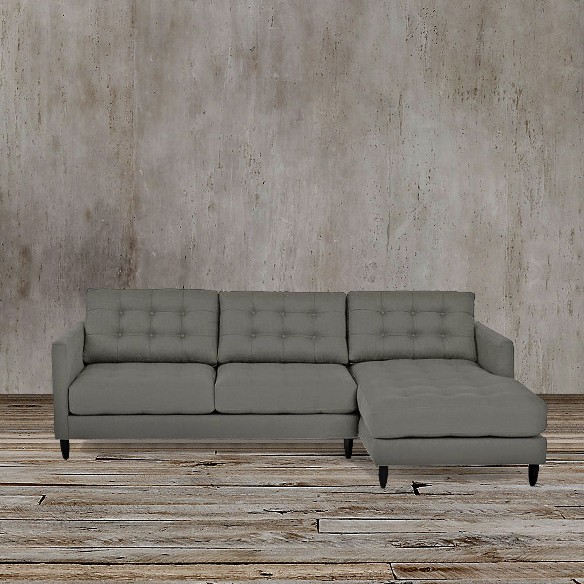 This Sleek And Functional Gray Left Arm Facing Sectional Regarding Florence Mid Century Modern Left Sectional Sofas (View 4 of 15)