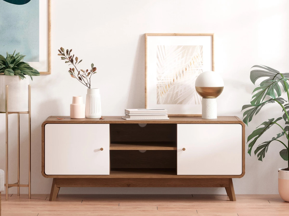 Tv Cabinet Entertainment Unit (freya Collection) | Bed Throughout Freya Wide Tv Stands (View 4 of 15)