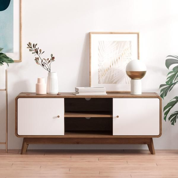 Tv Cabinet Entertainment Unit (freya Collection) In 2020 Intended For Freya Wide Tv Stands (View 5 of 15)
