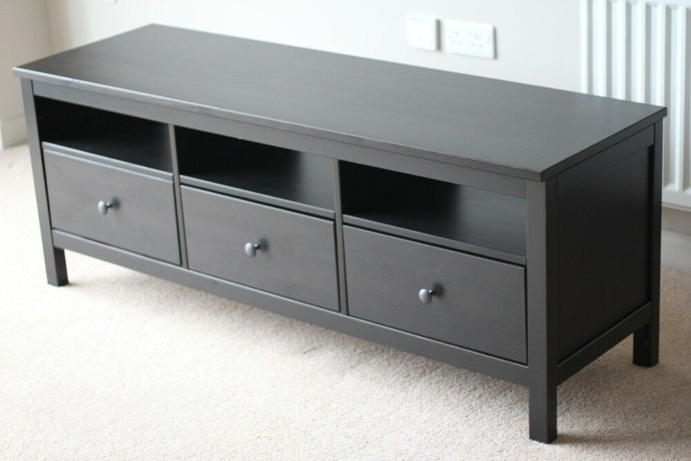 Tv Stand – 148 W X 47 D X 57 H – Black – Ikea Hemnes | In In Tv Stands At Ikea (View 3 of 15)