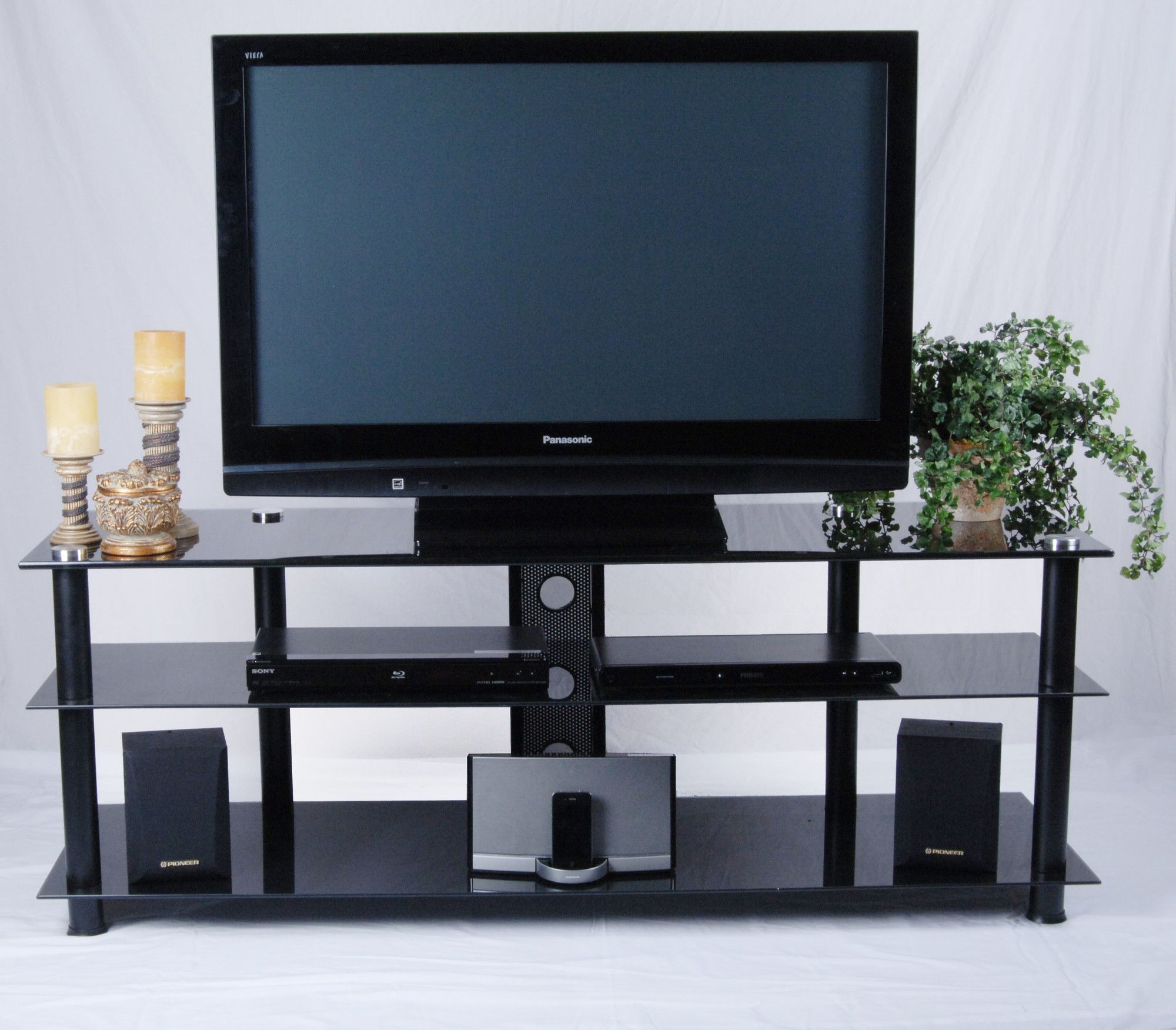 Tv Stand For Tvs Up To 70 Inches | Wall Unit Designs In Tier Entertainment Tv Stands In Black (View 1 of 15)