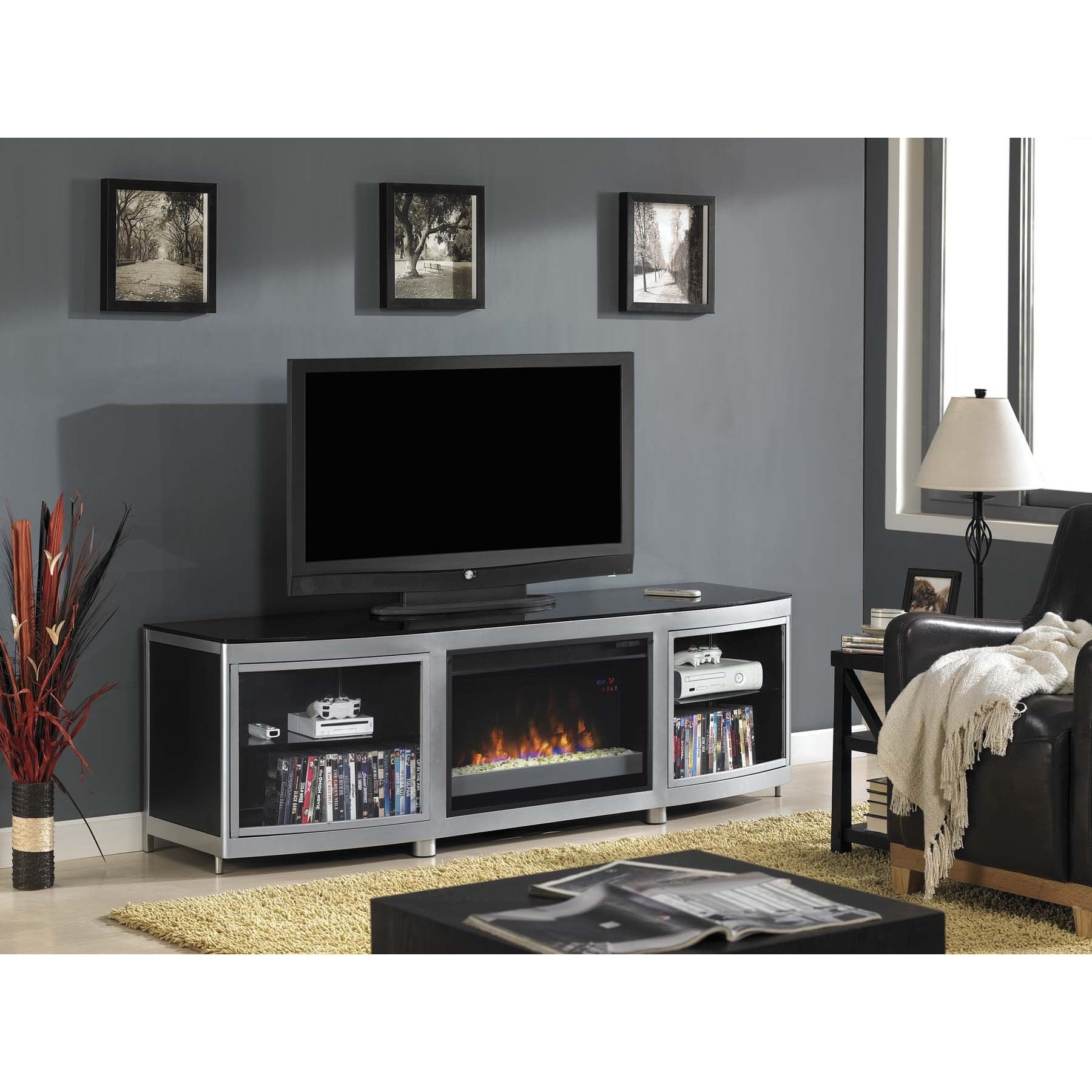 Twin Star Int Gotham Tv Stand For Tvs Up To 80 Inch With Intended For Baby Proof Contemporary Tv Cabinets (View 1 of 15)