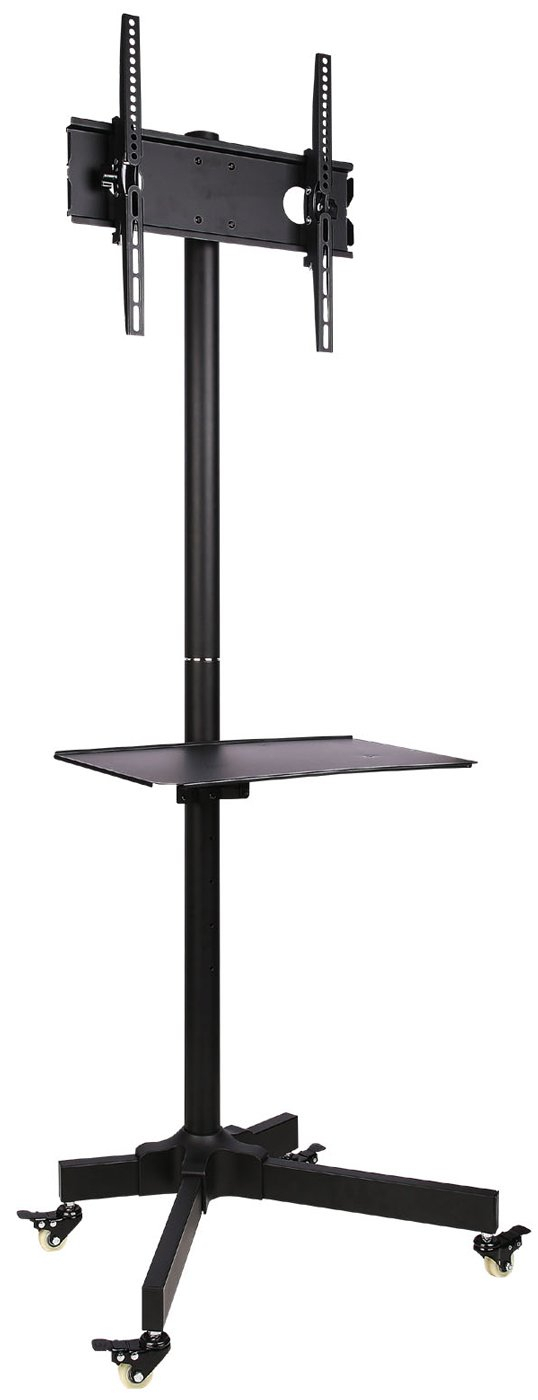 Ultimate Mounts Um400b Single Pole Tv Cart Trolley Stand With Single Tv Stands (View 6 of 15)