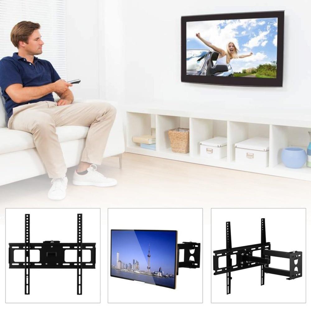 Universal Single Arm Telescopic 75kg Tv Wall Mount Swivel Regarding Single Tv Stands (View 10 of 15)