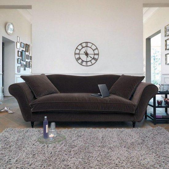 Velvet Sofa Designs For Almost Any Living Room – Velvet Sofa In French Seamed Sectional Sofas In Velvet (View 11 of 15)